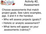 activity 2 assessment