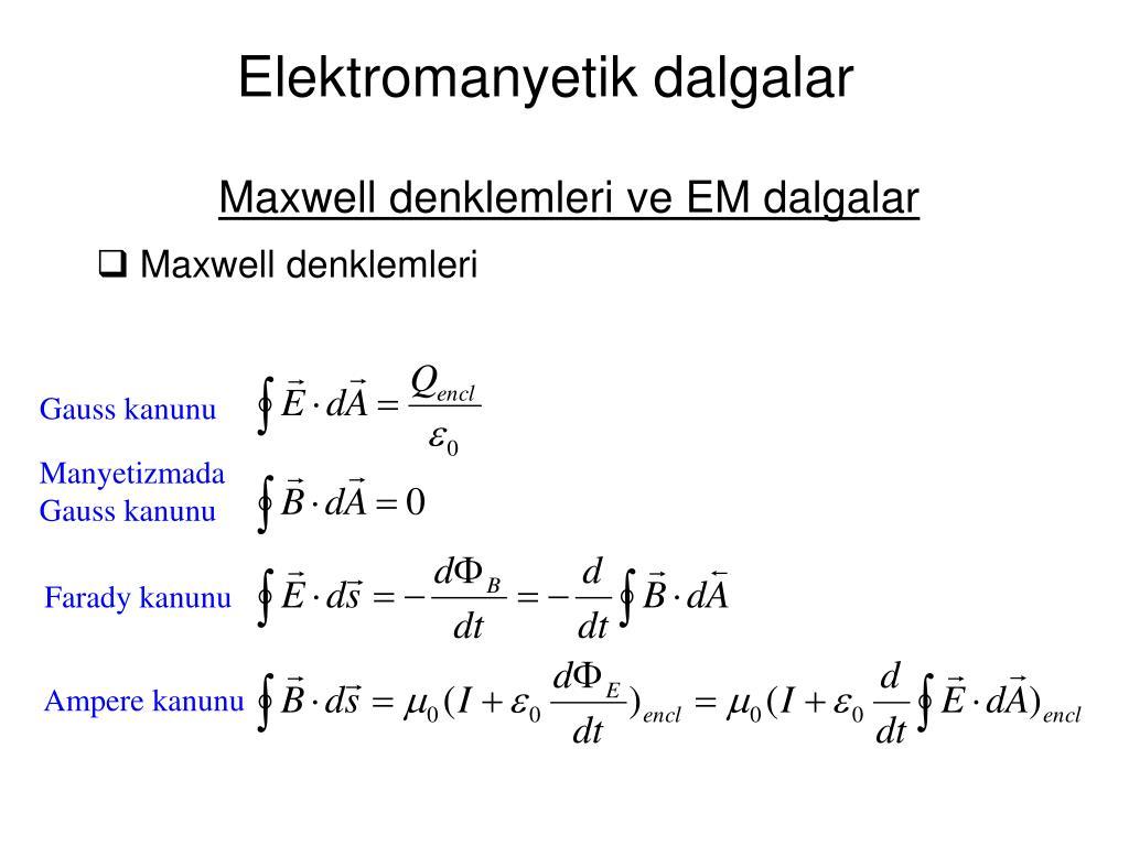 elektromanyetik dalgalar l.