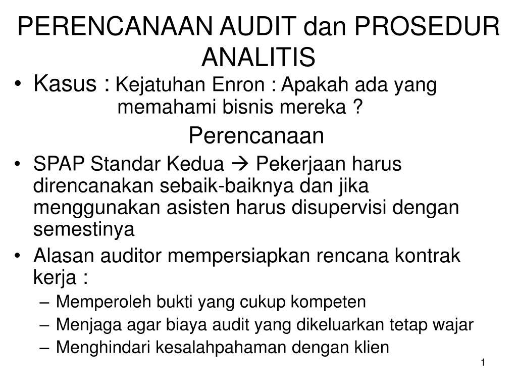 perencanaan audit dan prosedur analitis l.