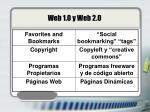 web 1 0 y web 2 0
