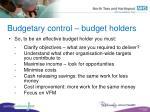 budgetary control budget holders55