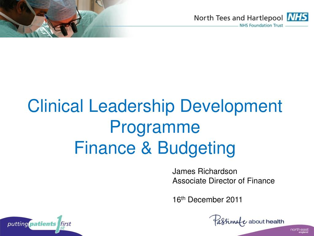 clinical leadership development programme finance budgeting l.