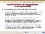upowszechnianie aktywnej integracji i pracy socjalnej 2