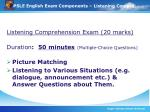 psle english exam components listening compre