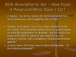 ada amendments act how does it read and what does it do
