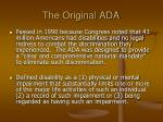 the original ada