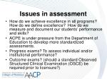issues in assessment