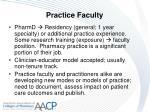 practice faculty