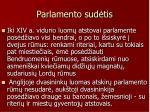parlamento sud tis