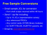 free sample conversions