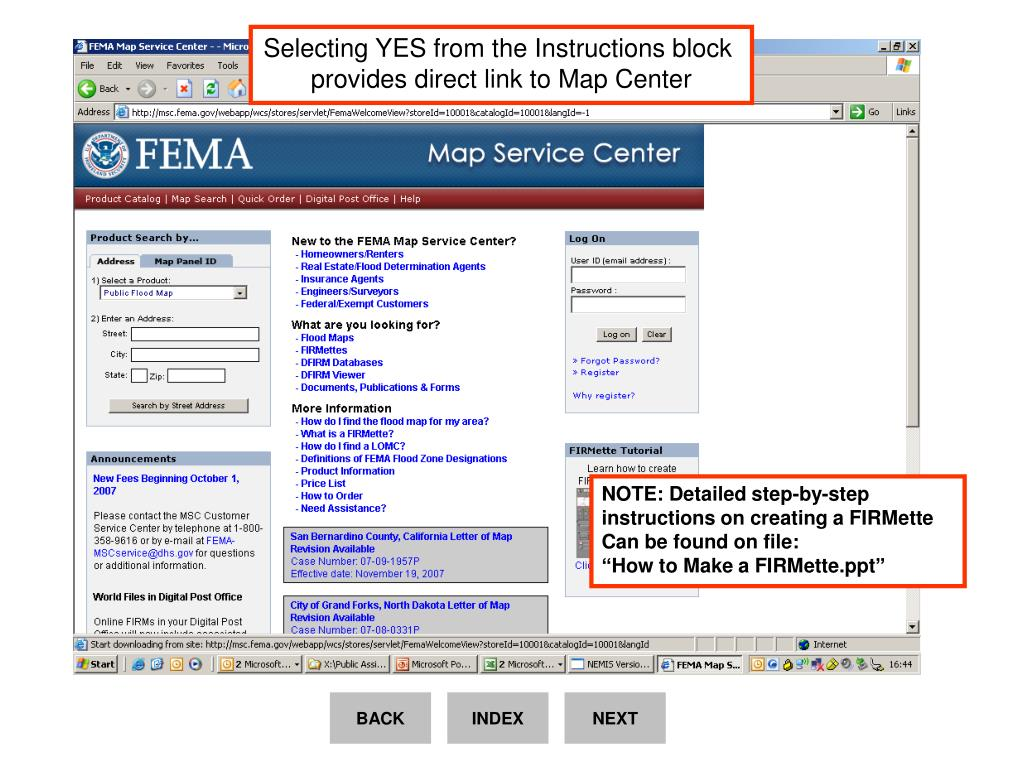 Selecting YES from the Instructions block