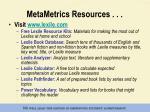 metametrics resources
