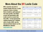 more about the br lexile code