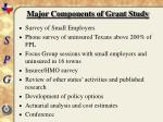 major components of grant study