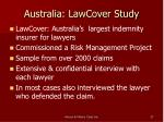 australia lawcover study