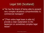 legal 500 scotland