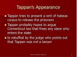 tappan s appearance