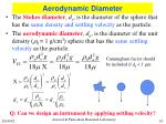 aerodynamic diameter