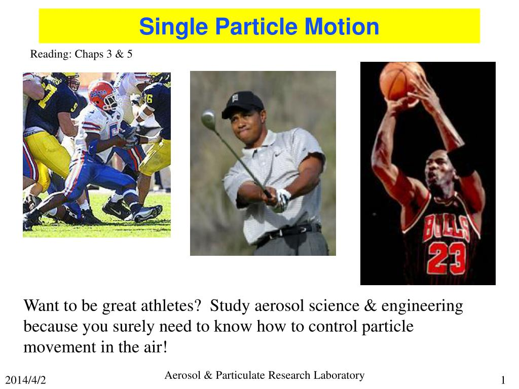 single particle motion l.