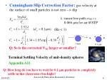 terminal settling velocity of unit density spheres