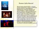 romeo i julia musical