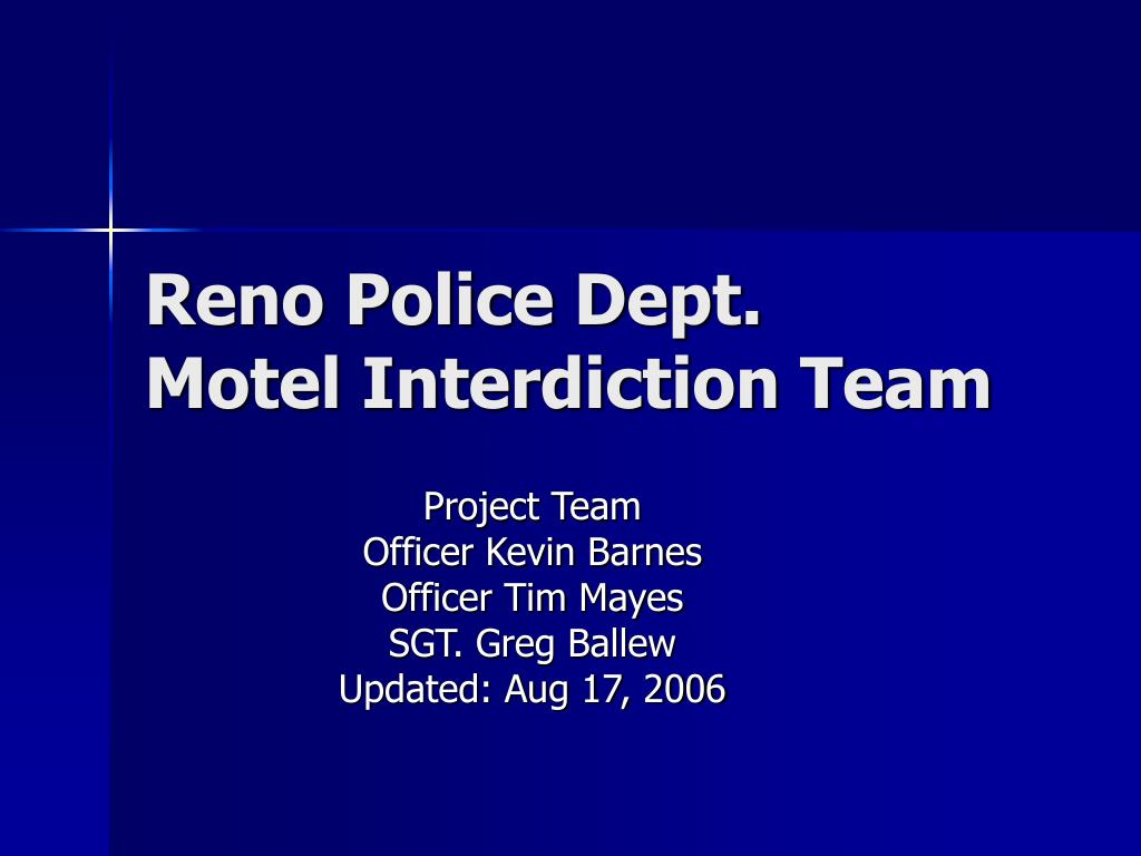 reno police dept motel interdiction team l.