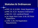 statutes ordinances