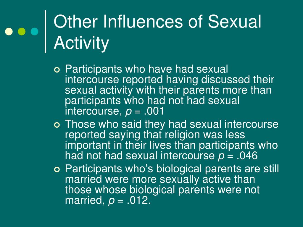 Other Influences of Sexual Activity
