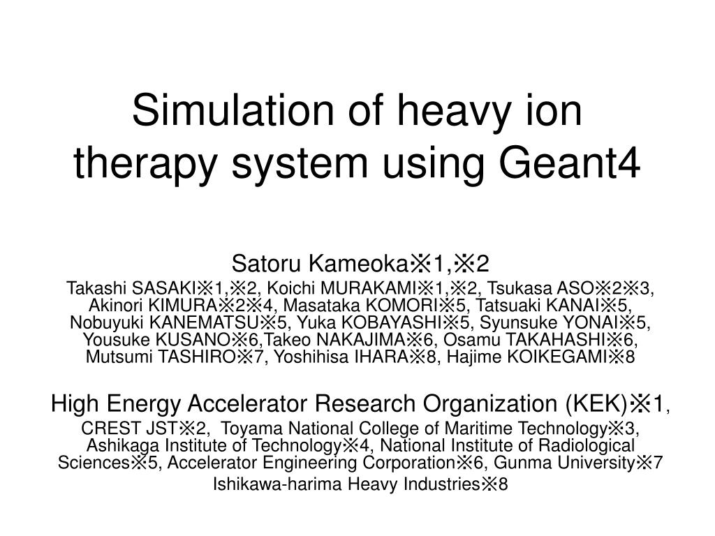 simulation of heavy ion therapy system using geant4 l.