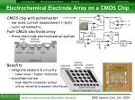 electrochemical electrode array on a cmos chip