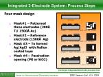 integrated 3 electrode system process steps