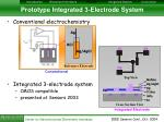 prototype integrated 3 electrode system