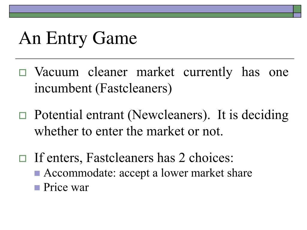 An Entry Game
