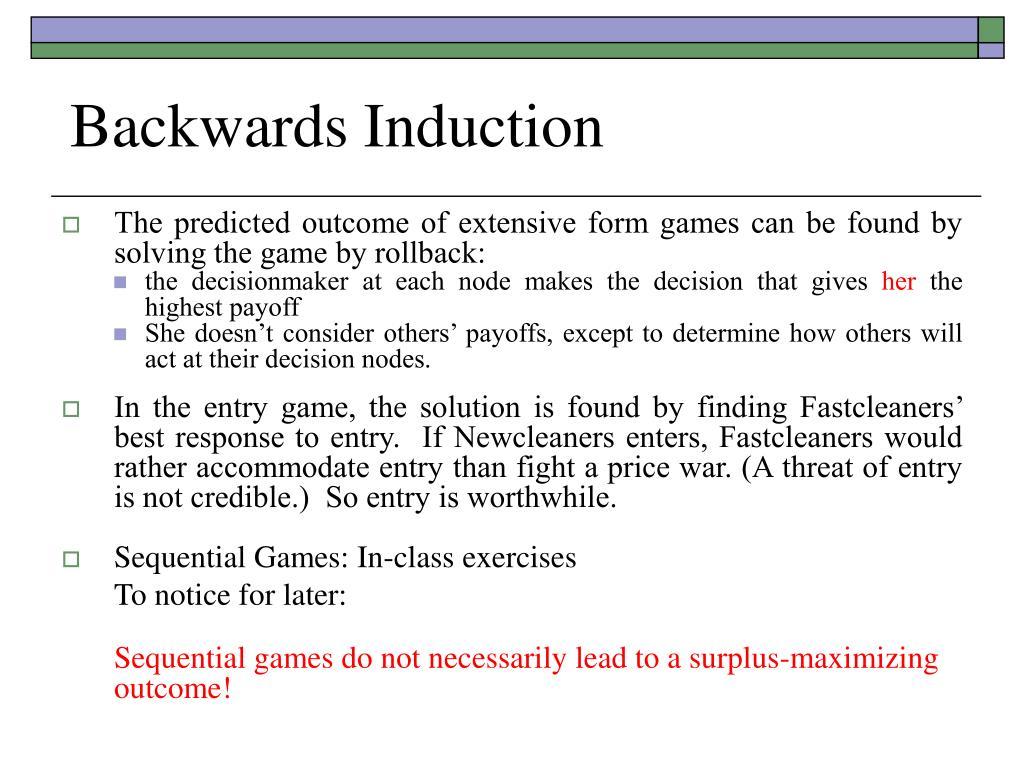 Backwards Induction