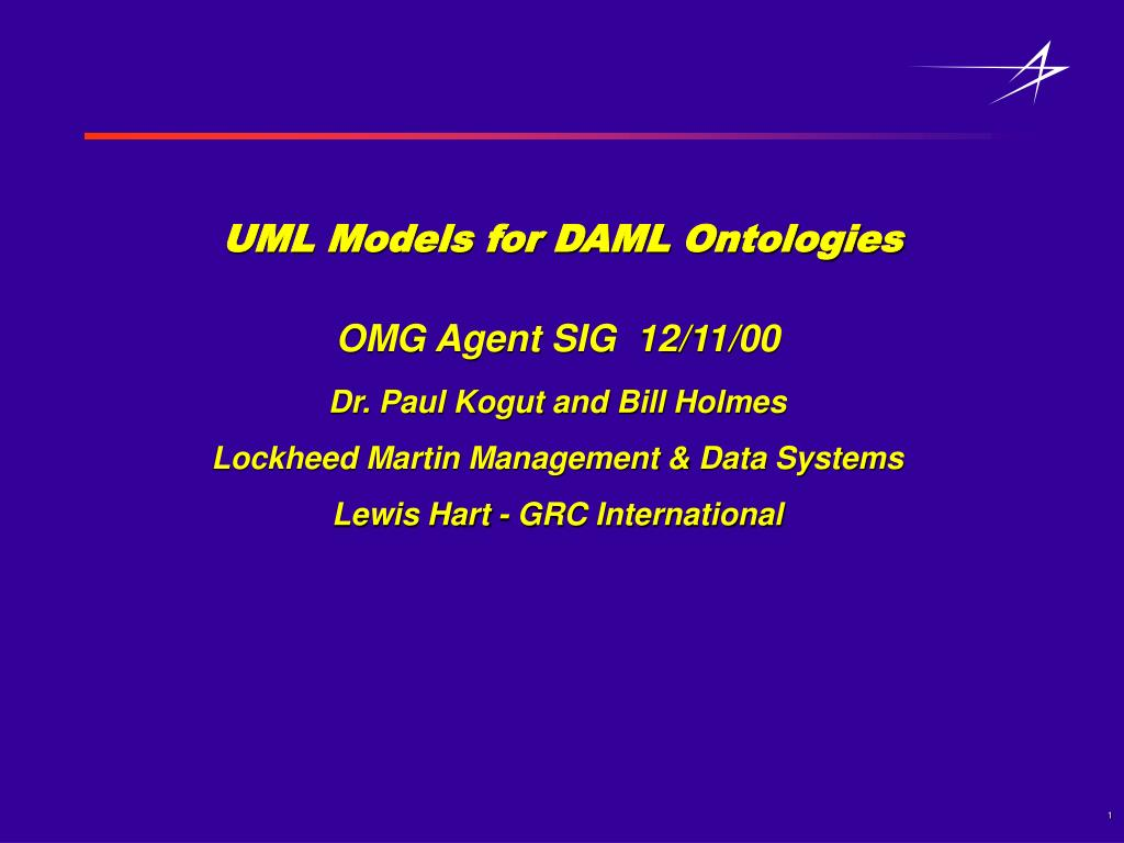 uml models for daml ontologies l.