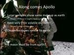 along comes apollo