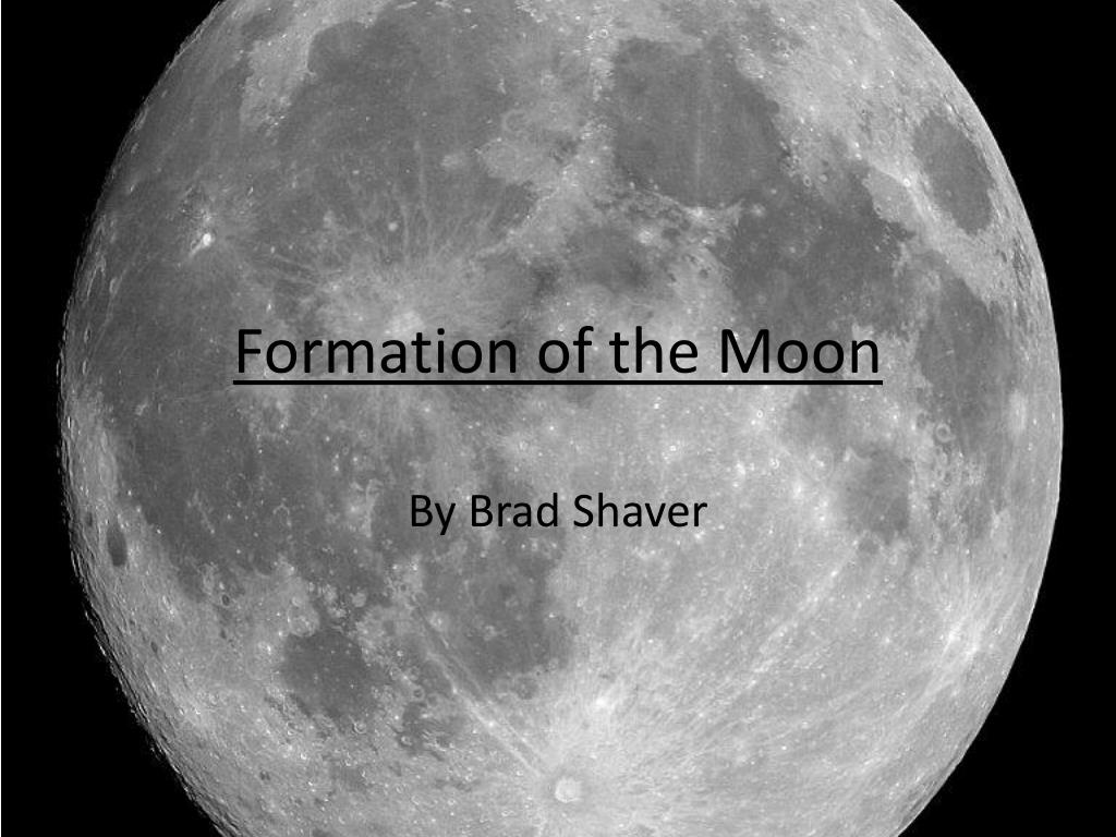 formation of the moon l.