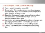 6 challenges in dol complementarity