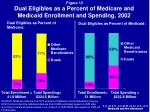 dual eligibles as a percent of medicare and medicaid enrollment and spending 2002