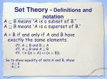 set theory definitions and notation5