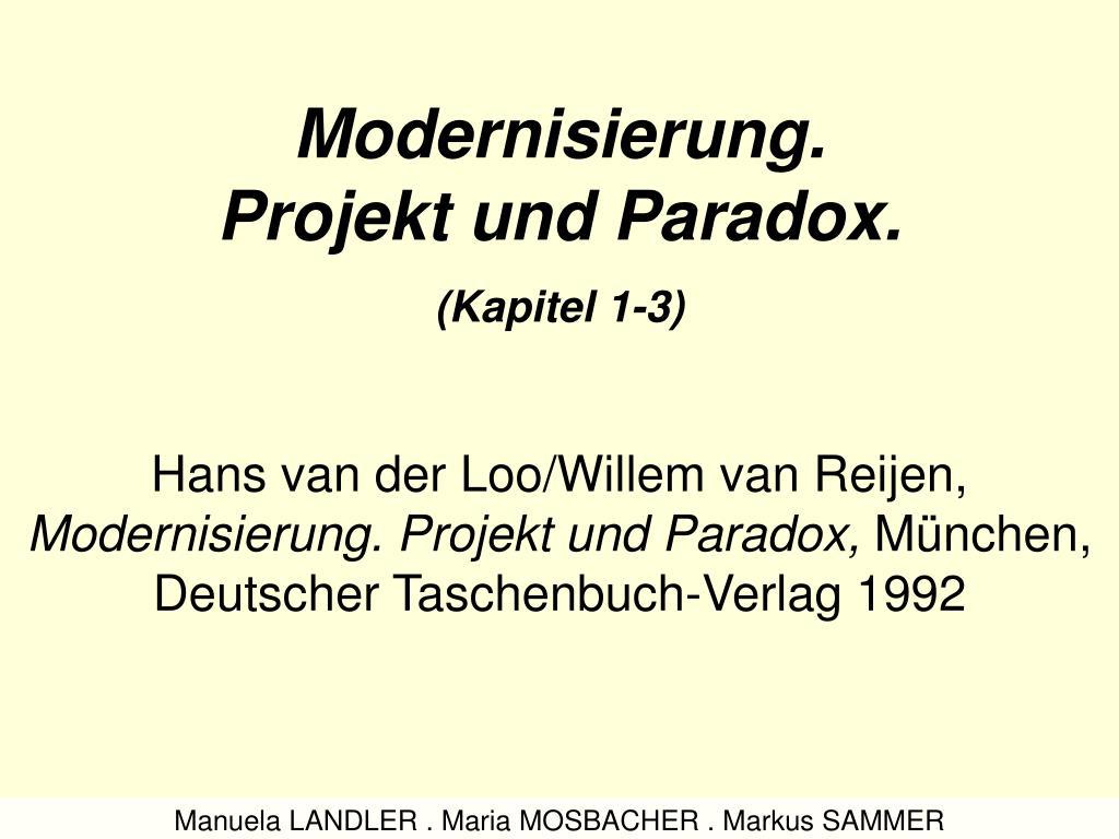 modernisierung projekt und paradox kapitel 1 3 l.