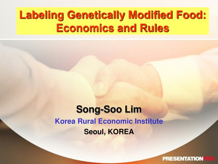 labeling genetically modified food economics and rules n.