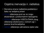 osjetna inervacija n radialisa