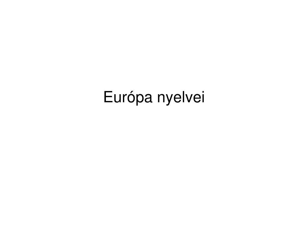 eur pa nyelvei