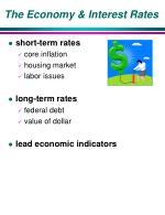 the economy interest rates