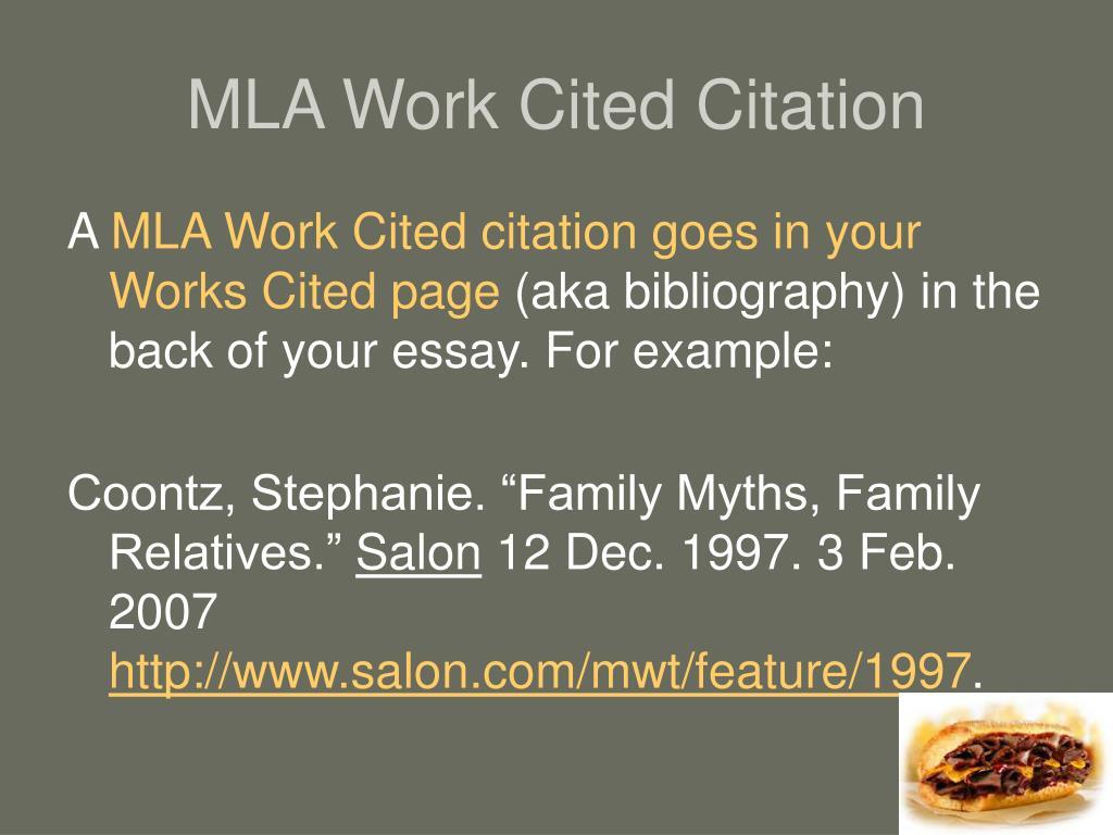 MLA Work Cited Citation
