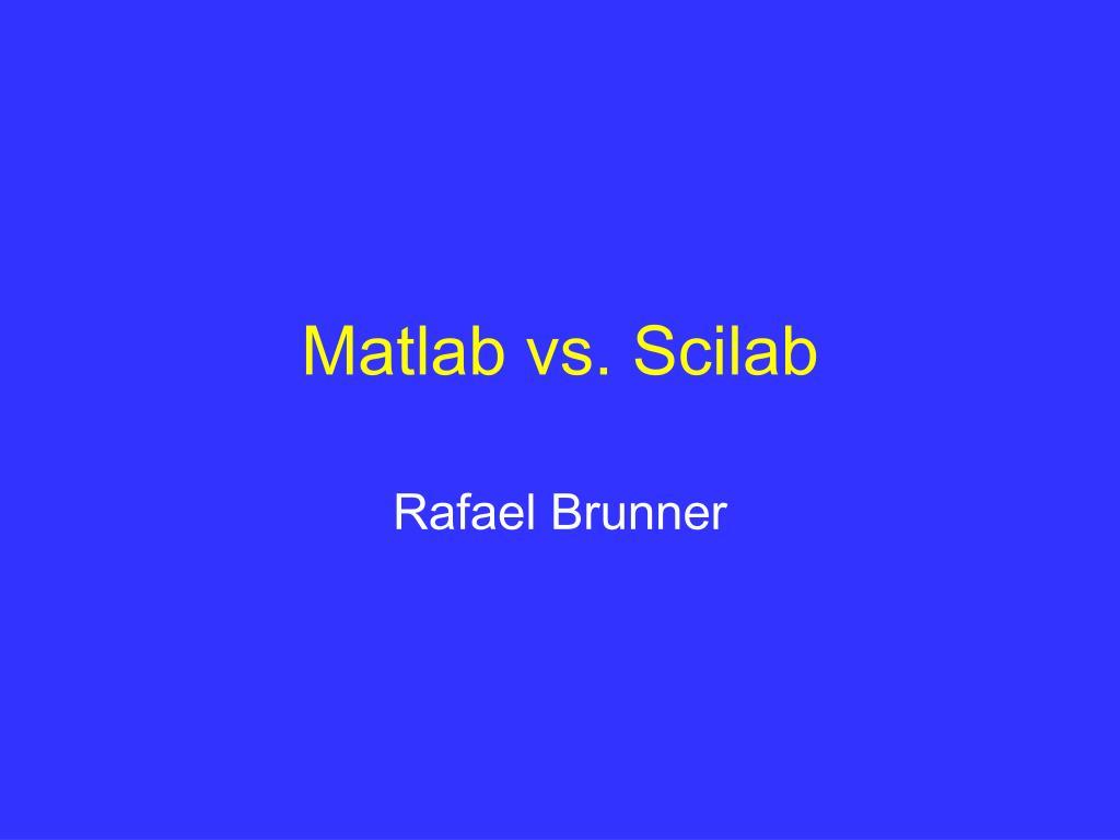 matlab vs scilab l.