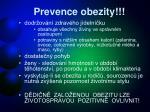 prevence obezity