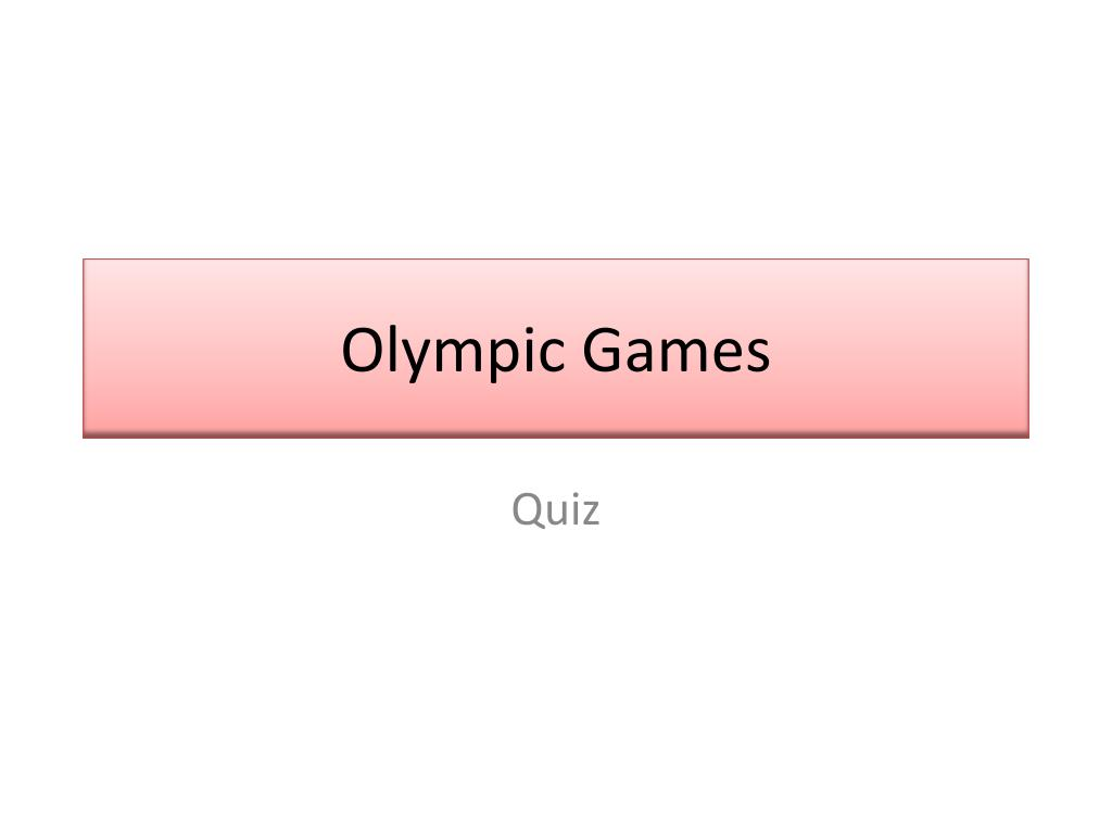 olympic games l.
