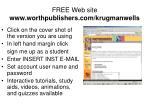 free web site www worthpublishers com krugmanwells